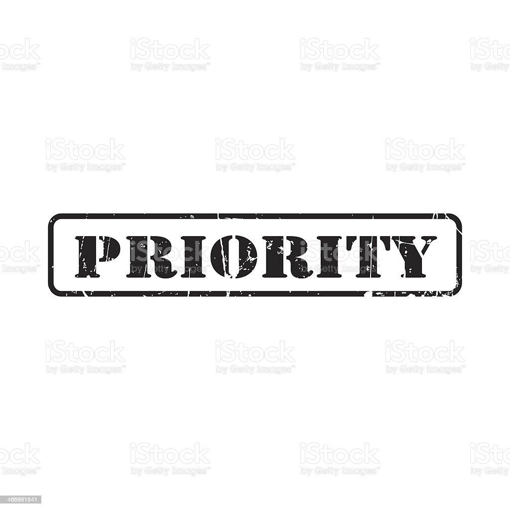 Priority - stamp stock photo