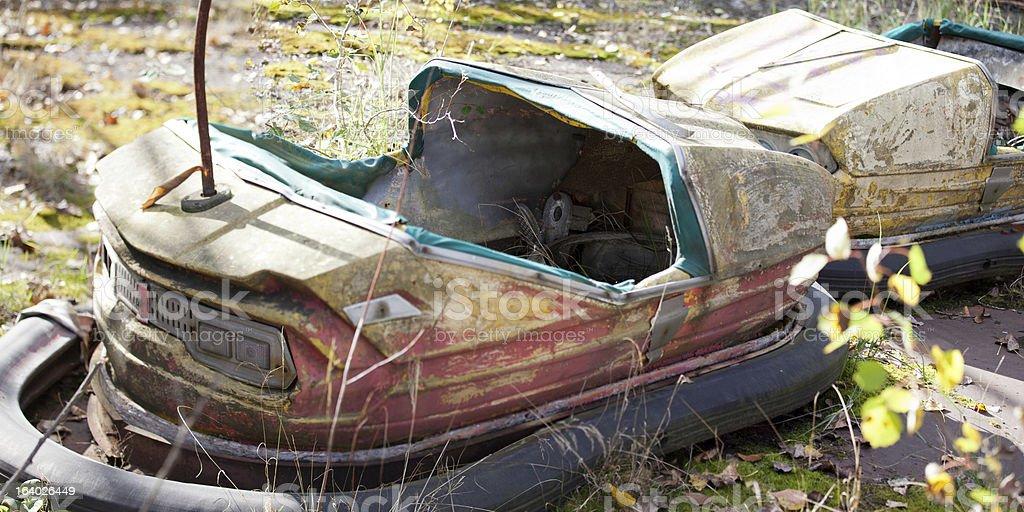 Pripyat bumber cars royalty-free stock photo