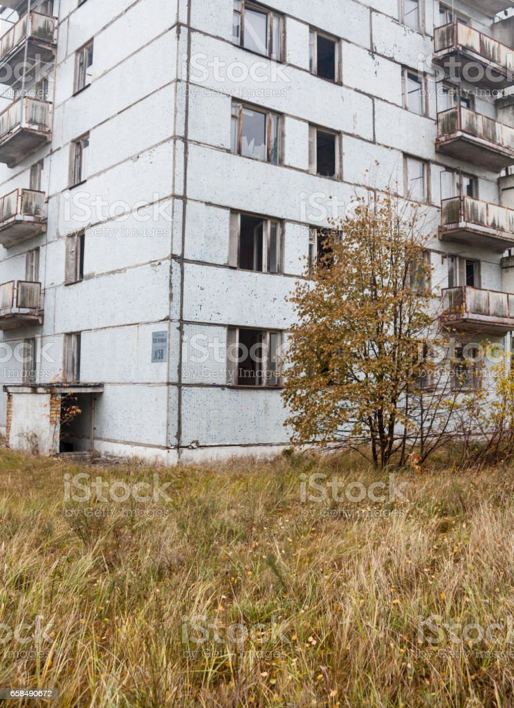Pripyat. Ghost town. Abandoned house. stock photo