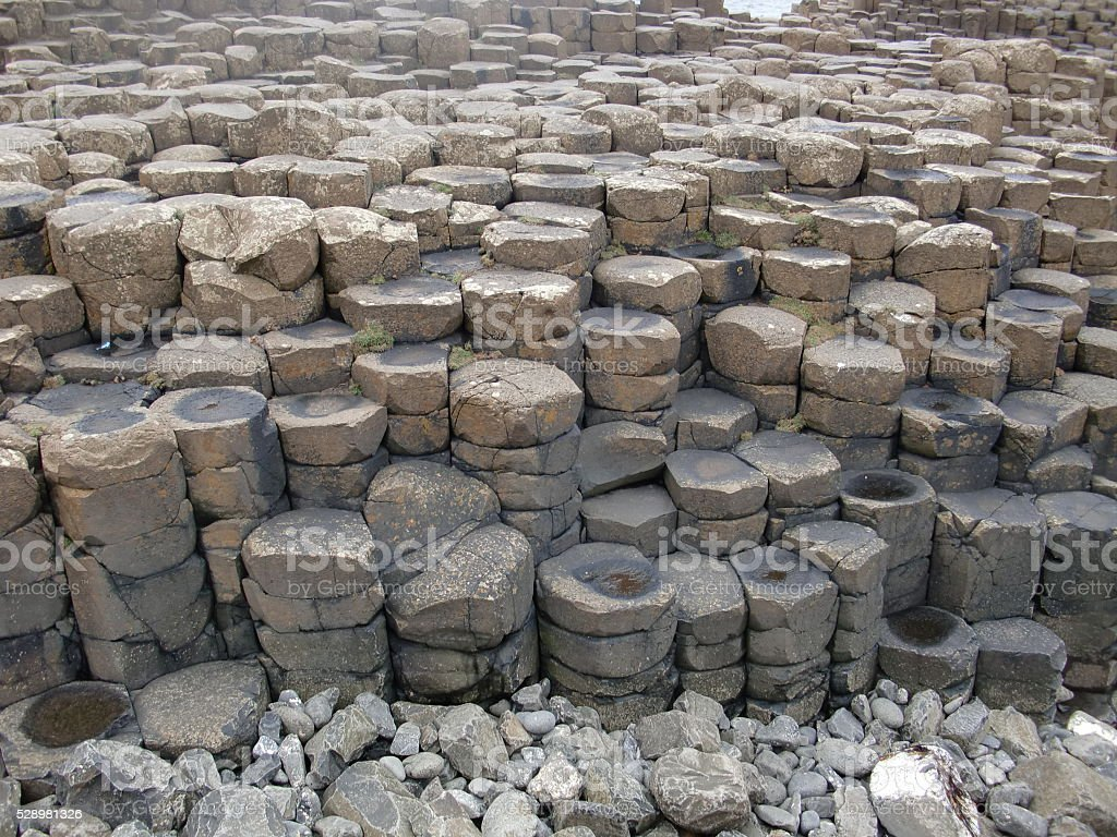 Prismatic Basalt Rocks at the Giant's Causeway stock photo