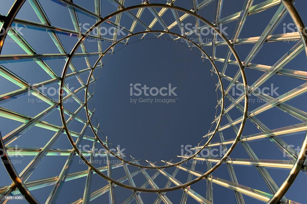 Prismatic structure royalty-free stock photo
