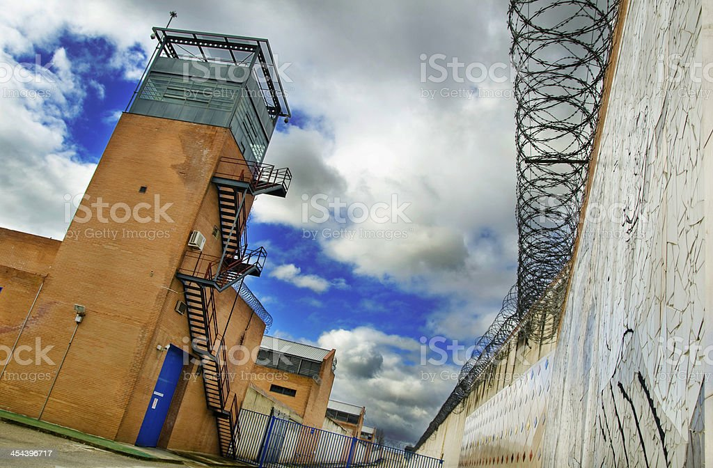 Prison and cloudy sky. royalty-free stock photo