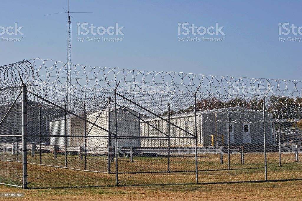 Prison Barracks stock photo