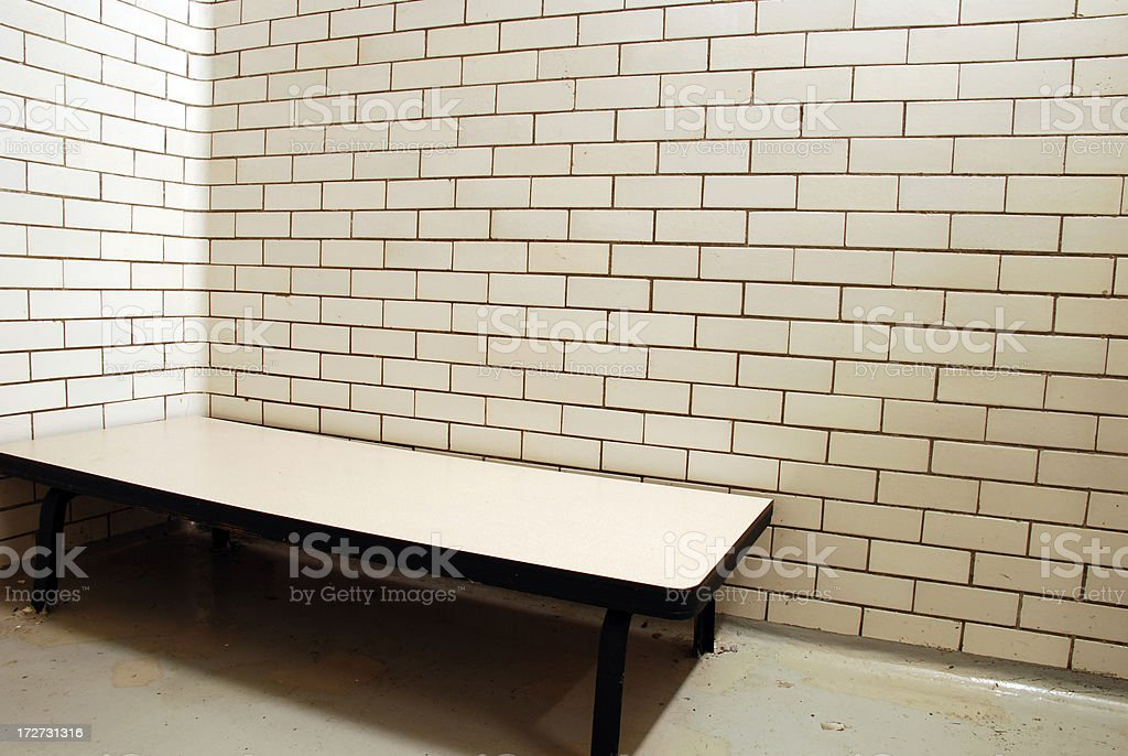Prison bed royalty-free stock photo