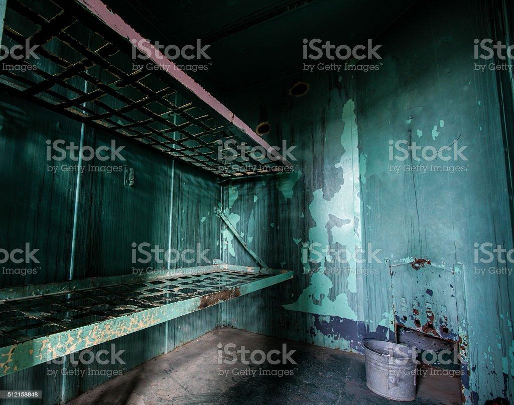 Prison bed stock photo