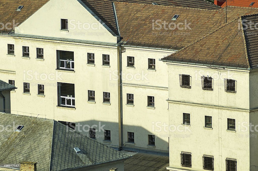 Prison building royalty-free stock photo