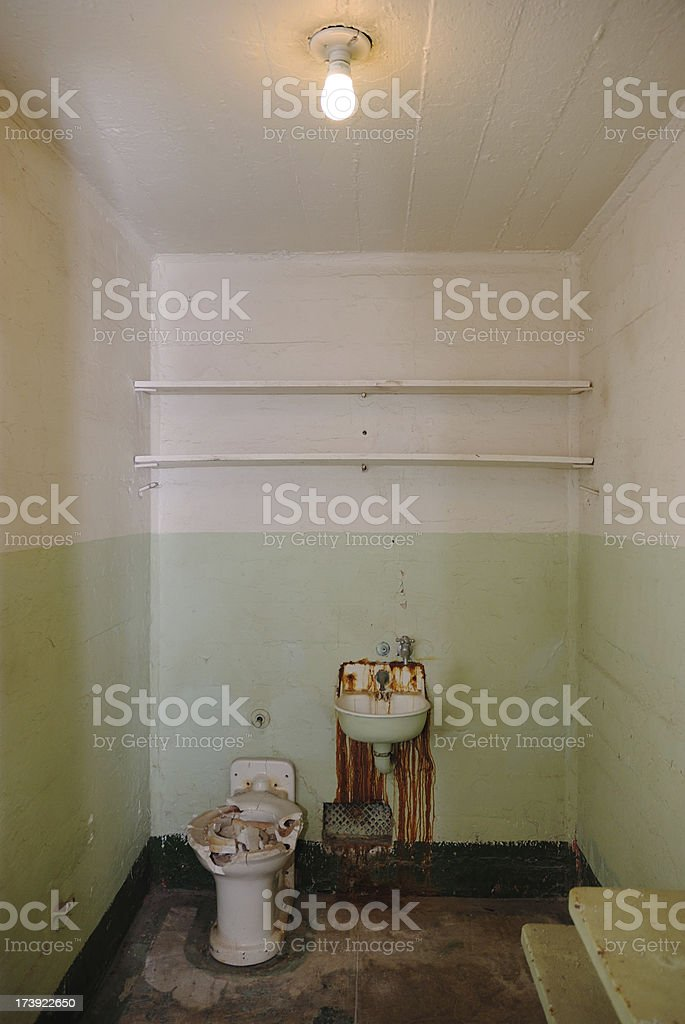 Prison cell in Alcatraz royalty-free stock photo