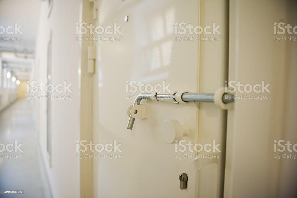 Prison door stock photo