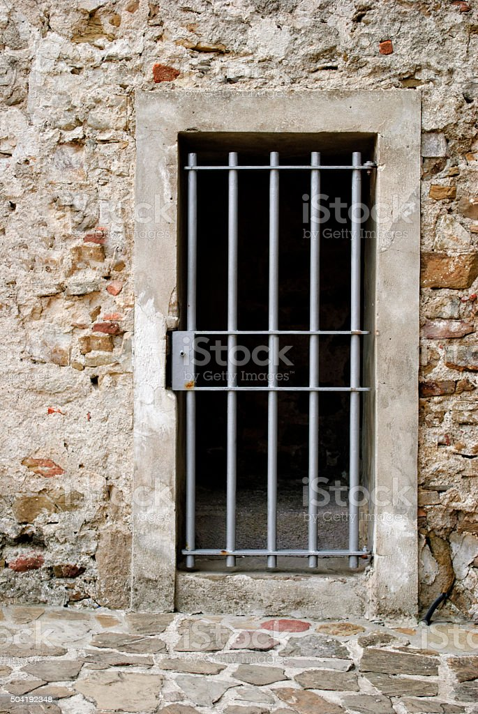 Prison door stock photo