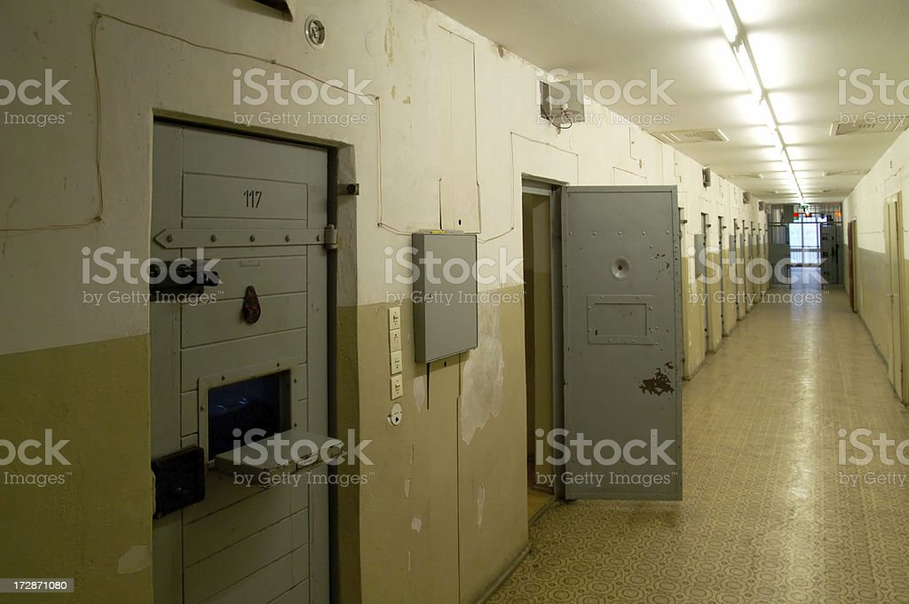 Prison doors royalty-free stock photo