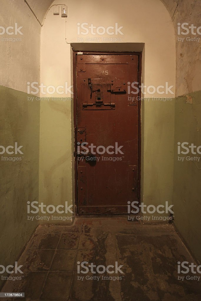 Prison gate stock photo