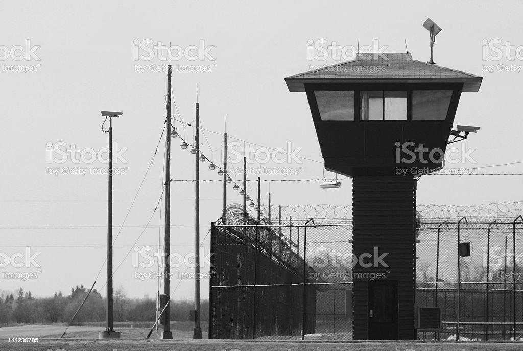 Prison Guard Tower stock photo