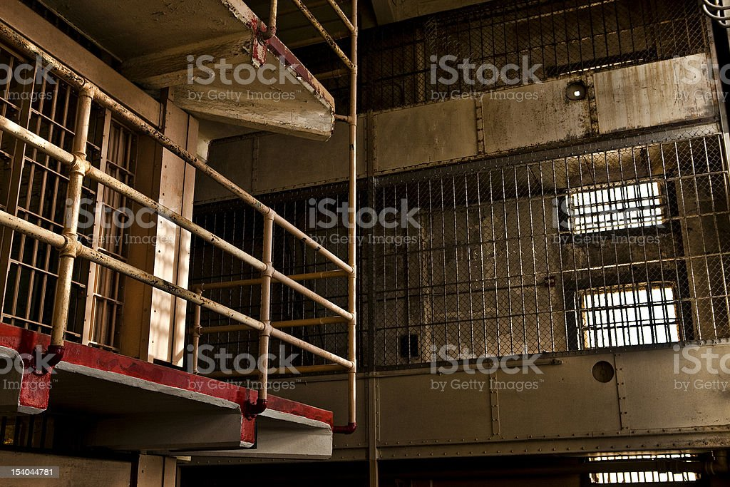Prison Gun Gallery royalty-free stock photo