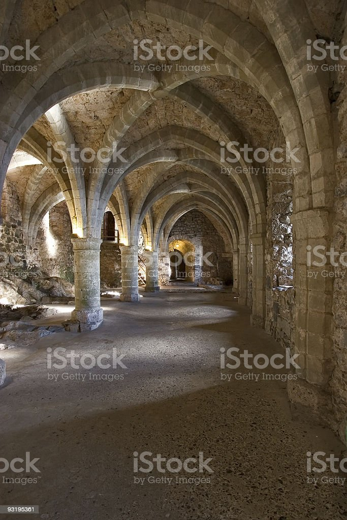 Prison in a fortress ?hillon. royalty-free stock photo