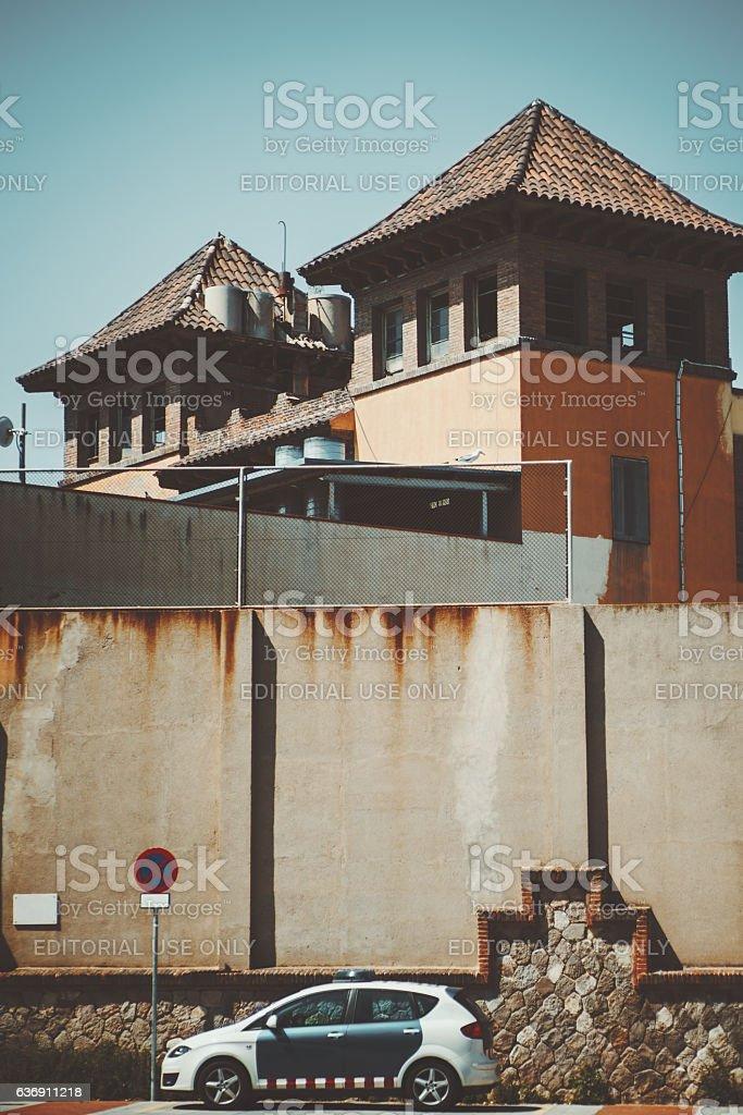 Prison in Barcelona stock photo