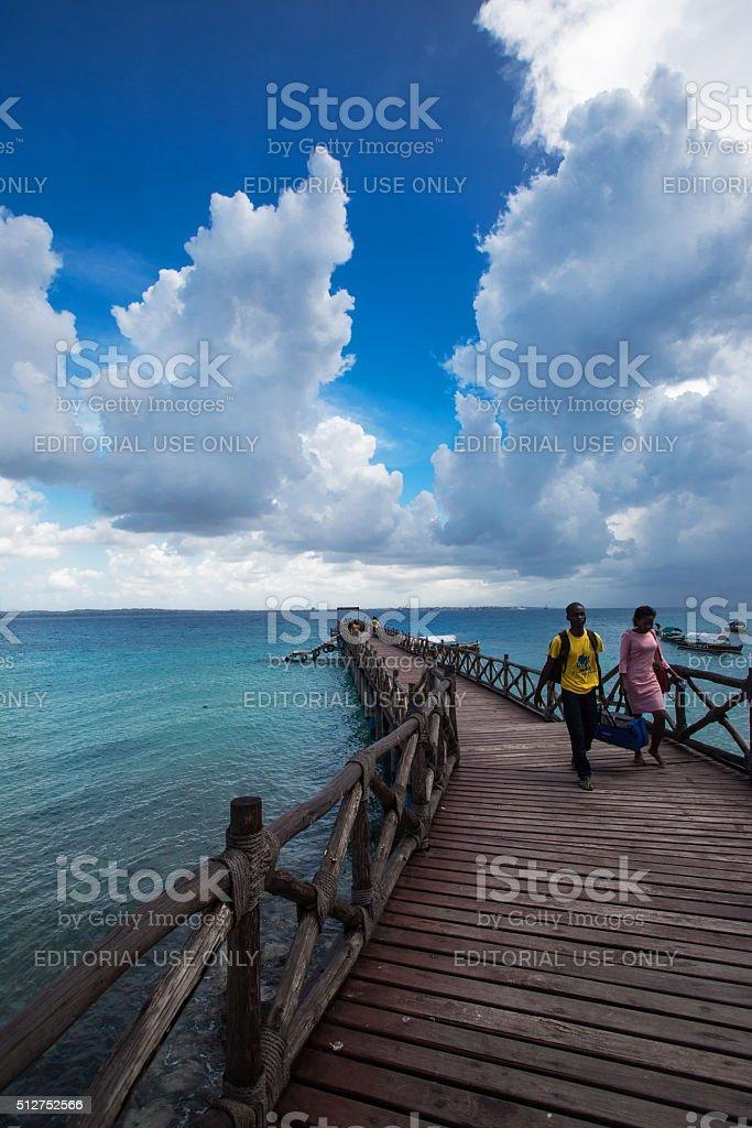 Prison Island in Zanzibar, Tanzania stock photo