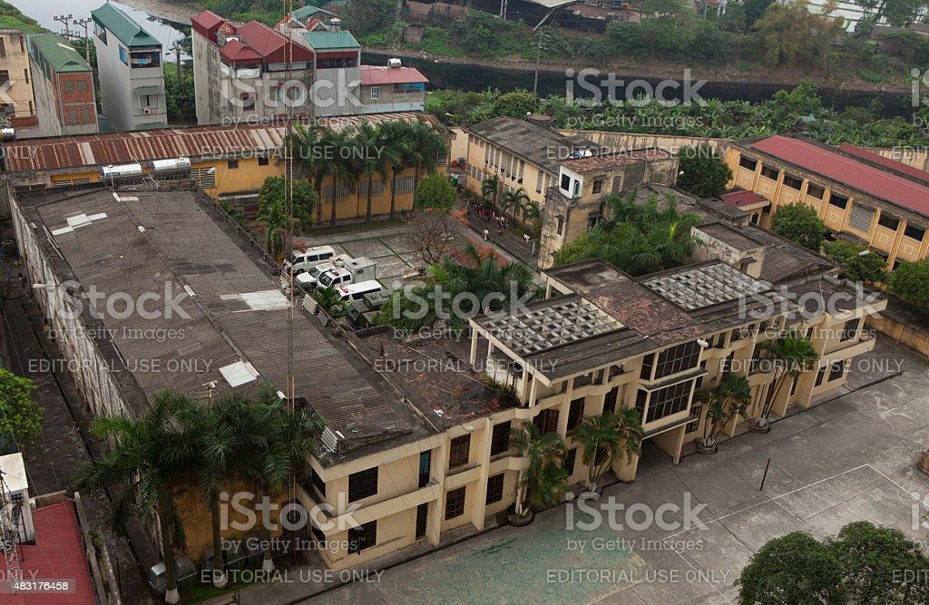 Prison located among a civilian area in Hanoi stock photo