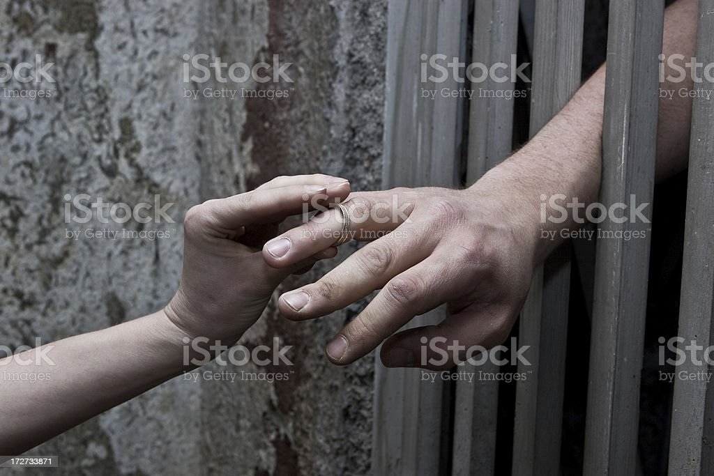 Prison: Love royalty-free stock photo