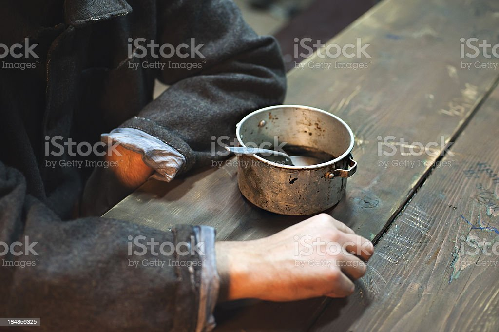 Prison meal stock photo