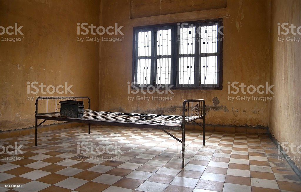 S-21 prison of the death in Phnom Penh, Cmabodia stock photo