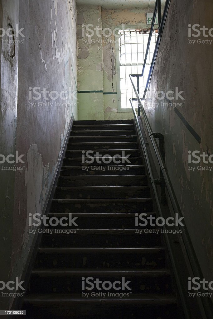 Prison Stairway royalty-free stock photo