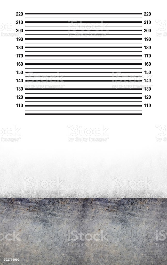 Prison Wall Mugshot stock photo