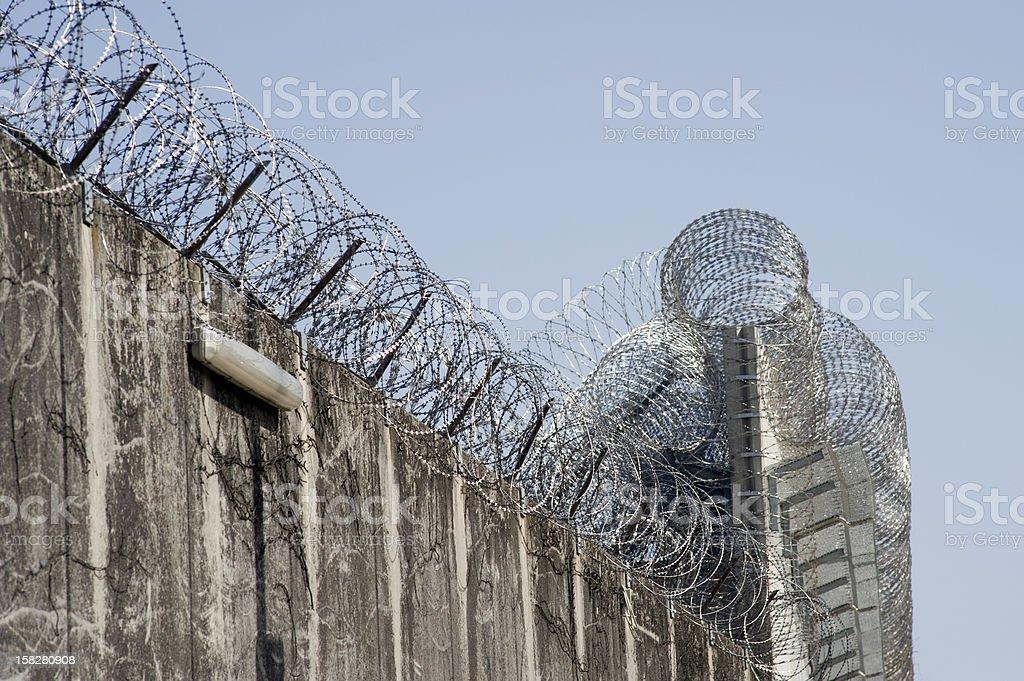 Prison wall royalty-free stock photo