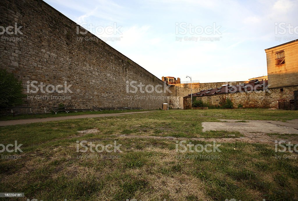 Prison Yard stock photo