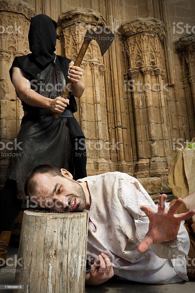 Prisoner execution stock photo