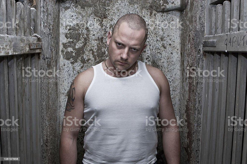 Prisoner portrait royalty-free stock photo