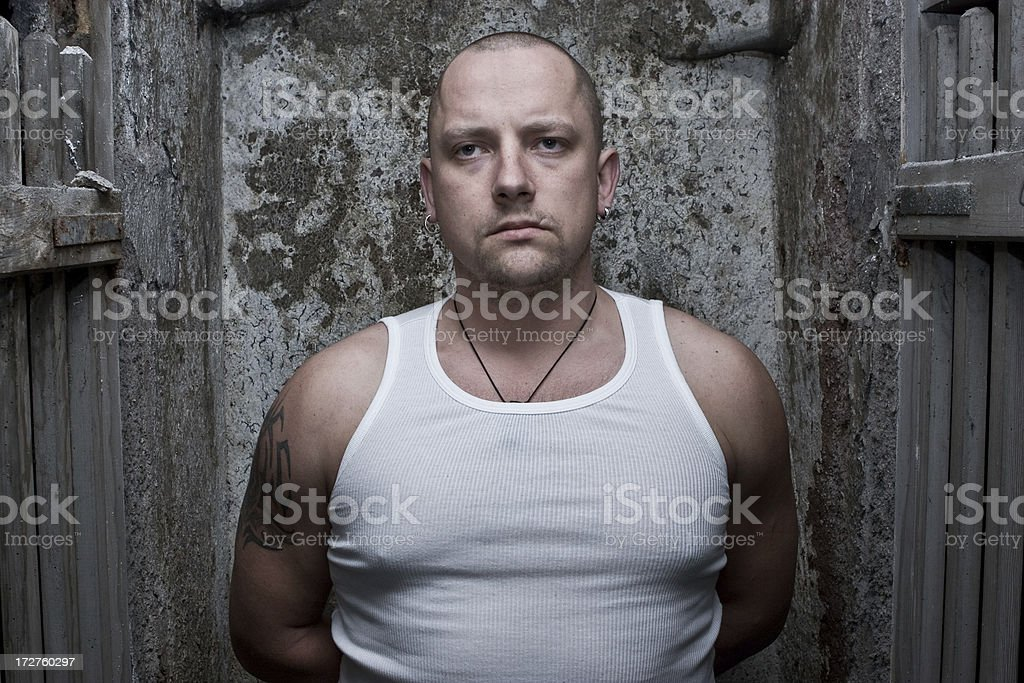 Prisoner portrait royalty-free stock photo