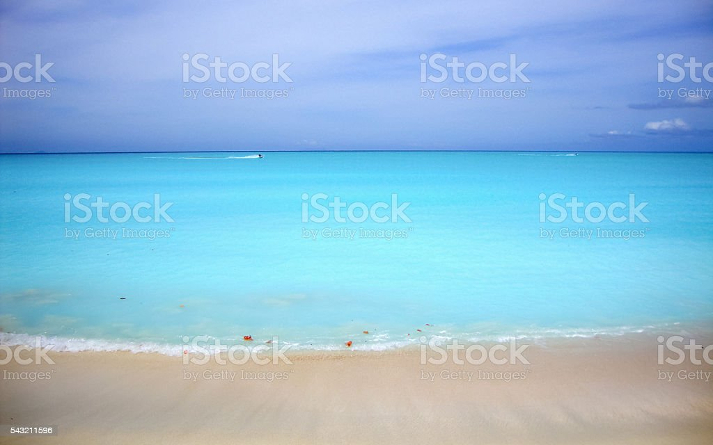 Pristine Beach and Ocean stock photo