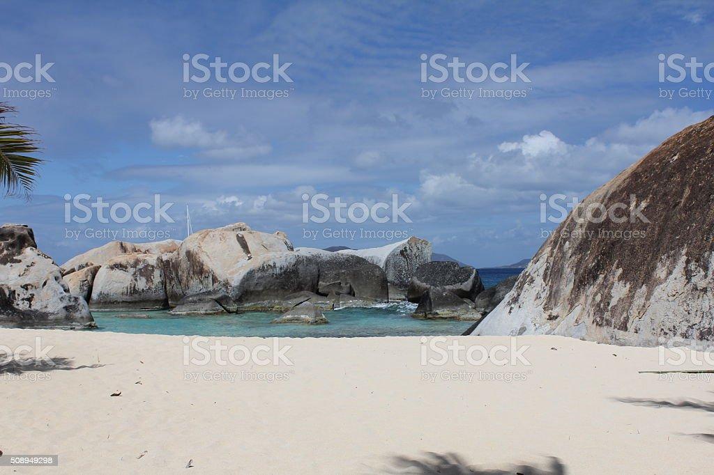 Pristine Beach:  British Virgin Islands stock photo