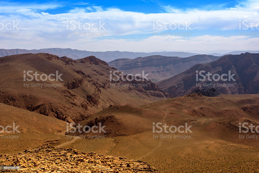 Pristine mountain landscape of the Middle Atlas, Morocco stock photo