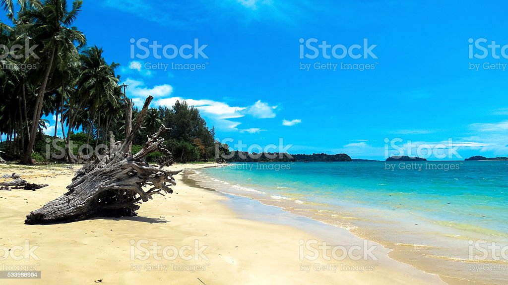 Pristine Wandoor Beach stock photo