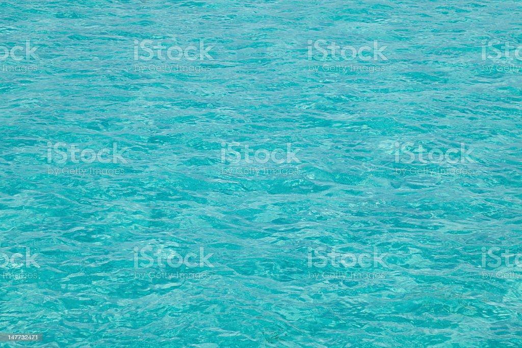 Pristine water on Mabul island, Sipadan, Borneo Malaysia stock photo