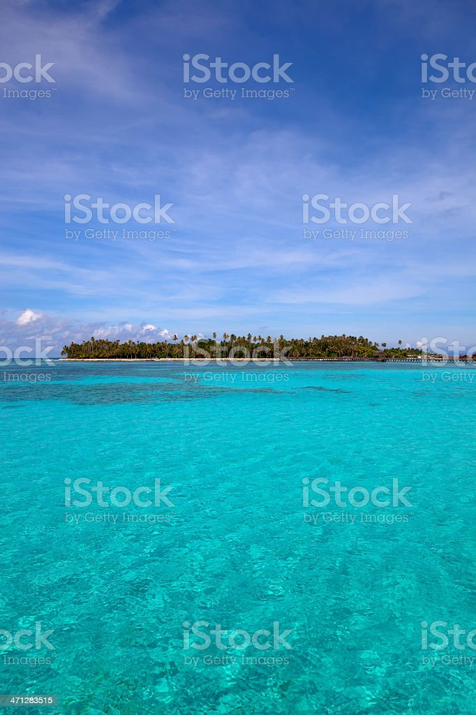 Pristine water on Mabul island, Sipadan, Borneo Malaysia royalty-free stock photo