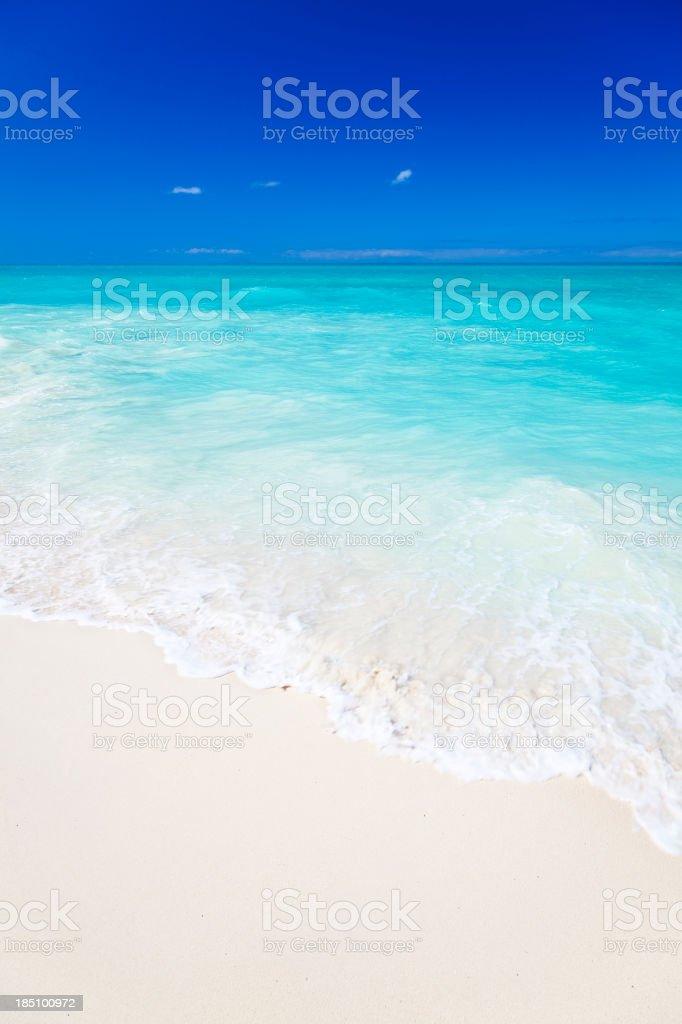 Pristine White Caribbean Beach stock photo