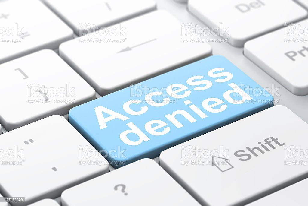 Privacy concept: Access Denied on computer keyboard background royalty-free stock photo