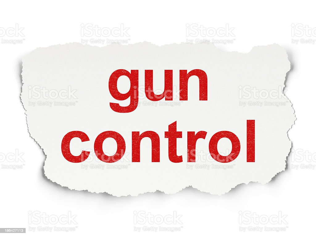 Privacy concept: Gun Control on Paper background royalty-free stock photo
