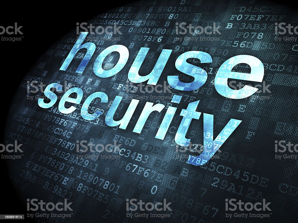 Privacy concept: House Security on digital background royalty-free stock photo