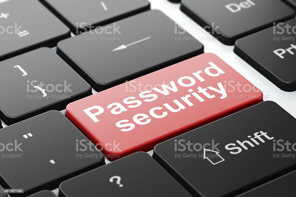 Privacy concept: Password Security on computer keyboard background royalty-free stock photo