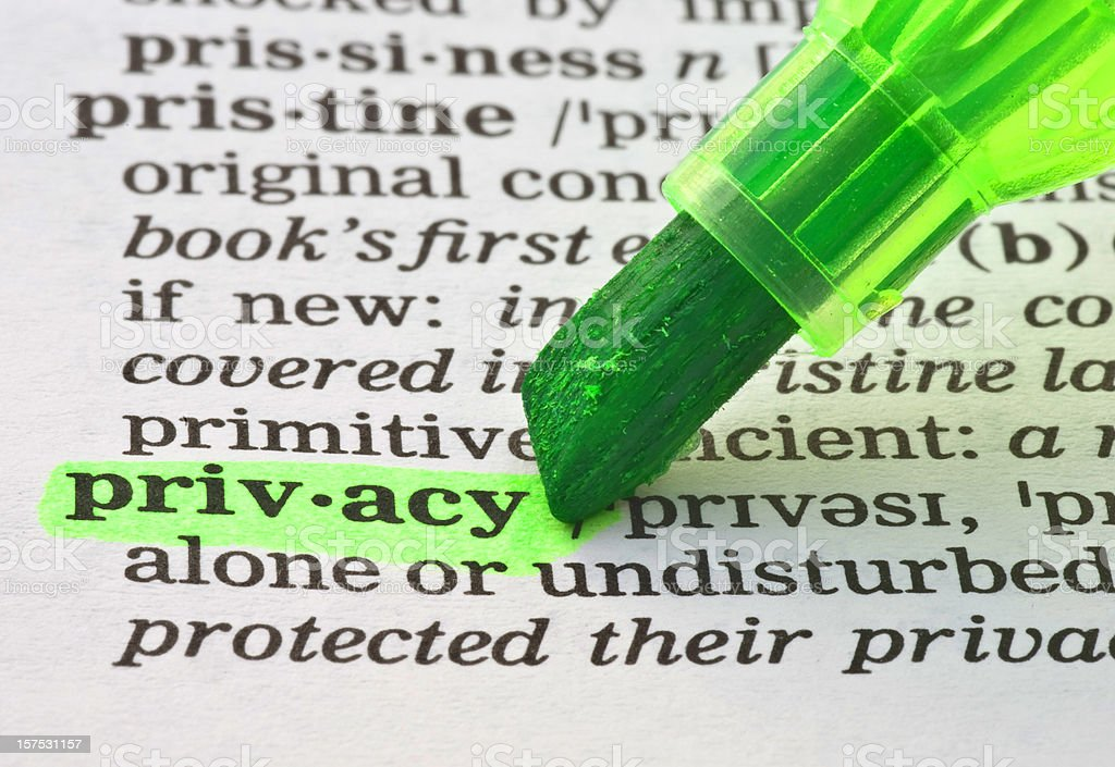 privacy definition highligted in dictionary royalty-free stock photo