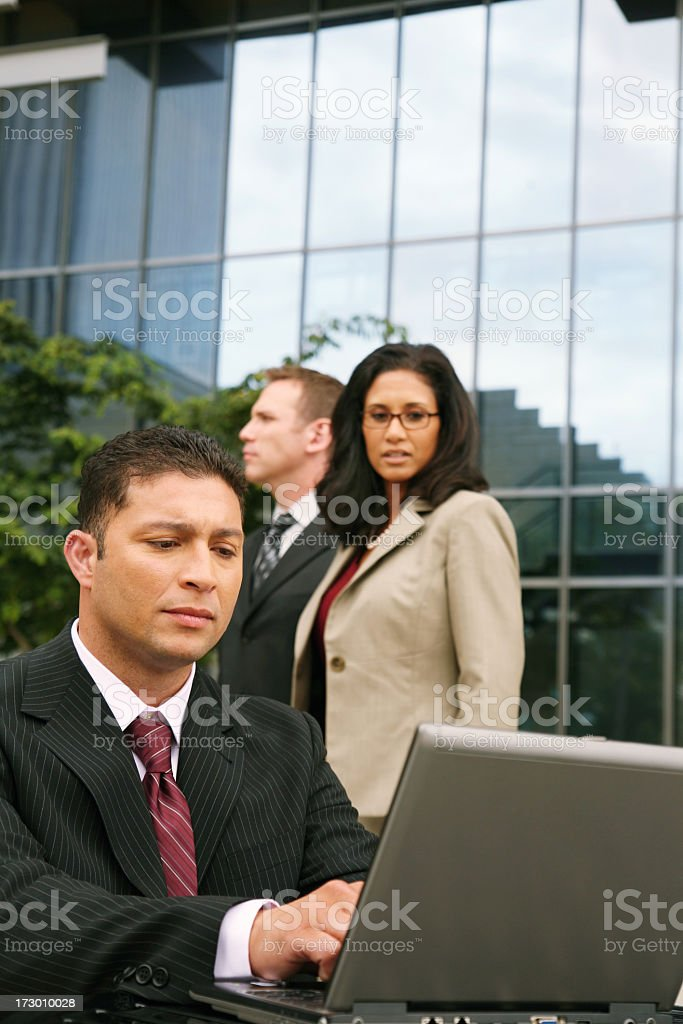 Privacy - Reading over shoulder stock photo