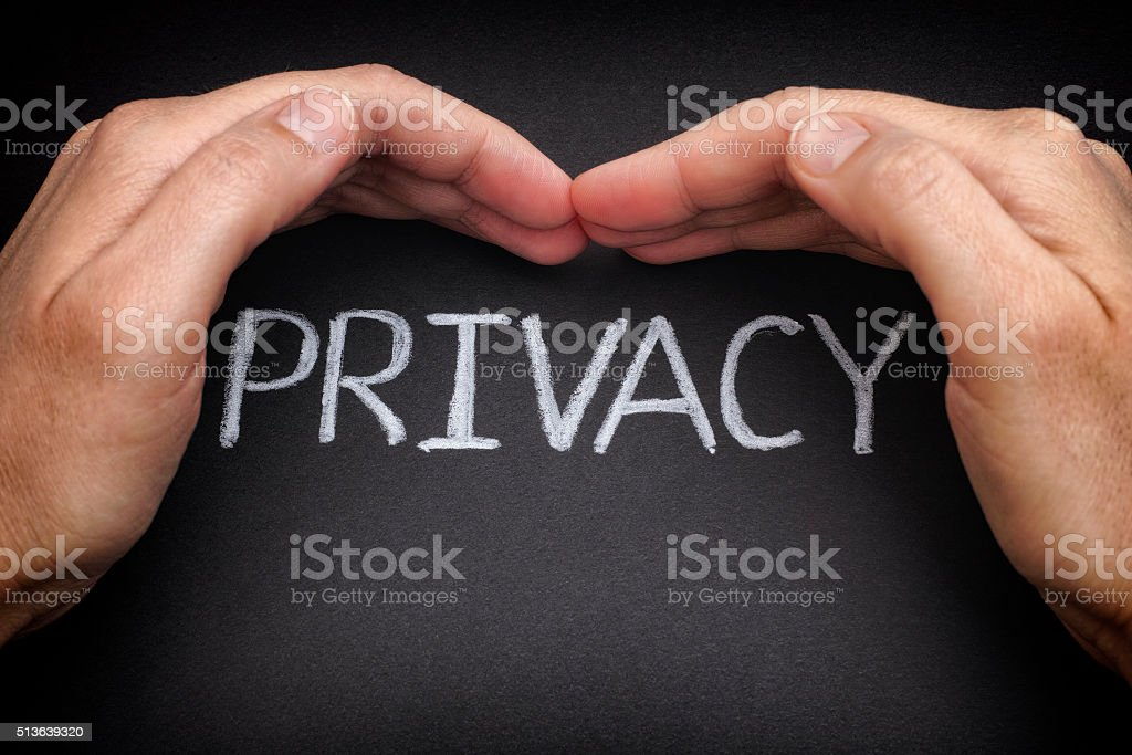 Privacy. Security of personal data stock photo