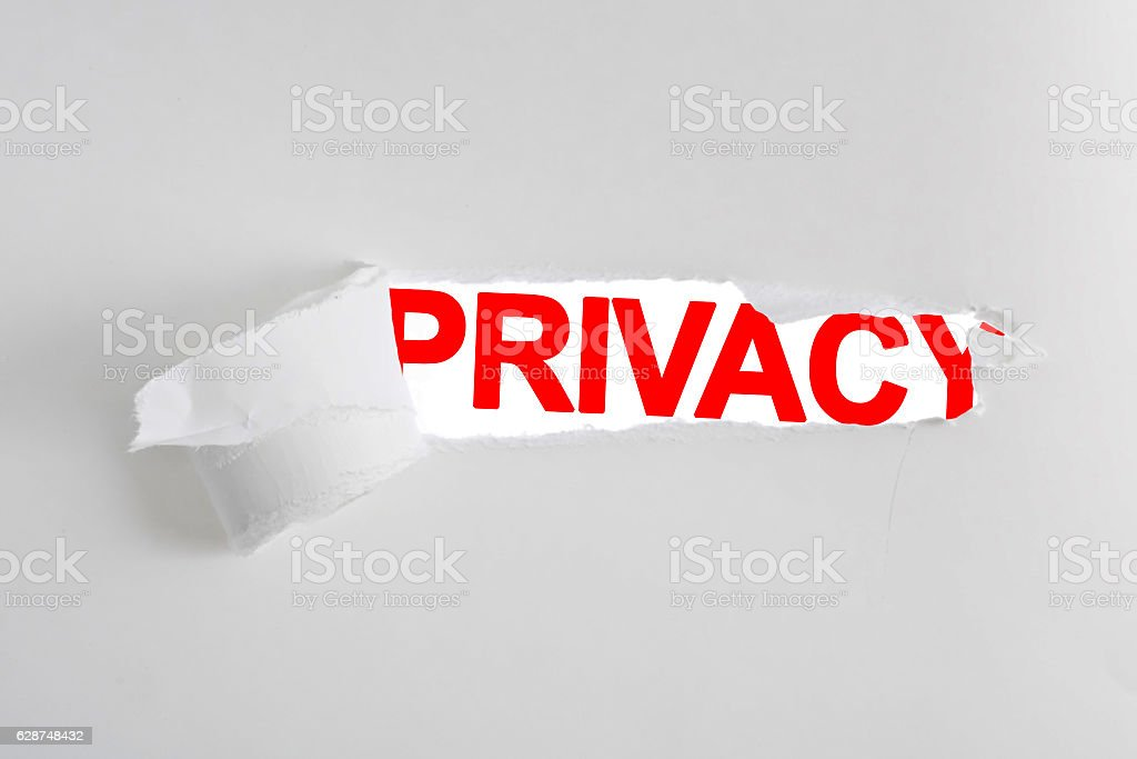 Privacy unveiled stock photo