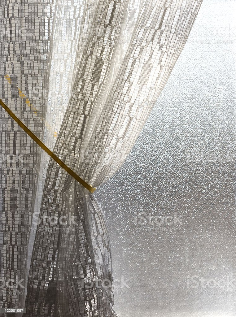 Privacy Window and Curtain stock photo