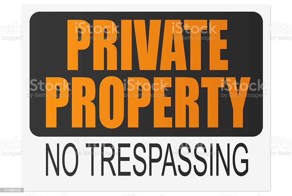 "'Privat Property"" Posting. Part of our ""Create a Sign"" Series. royalty-free stock photo"