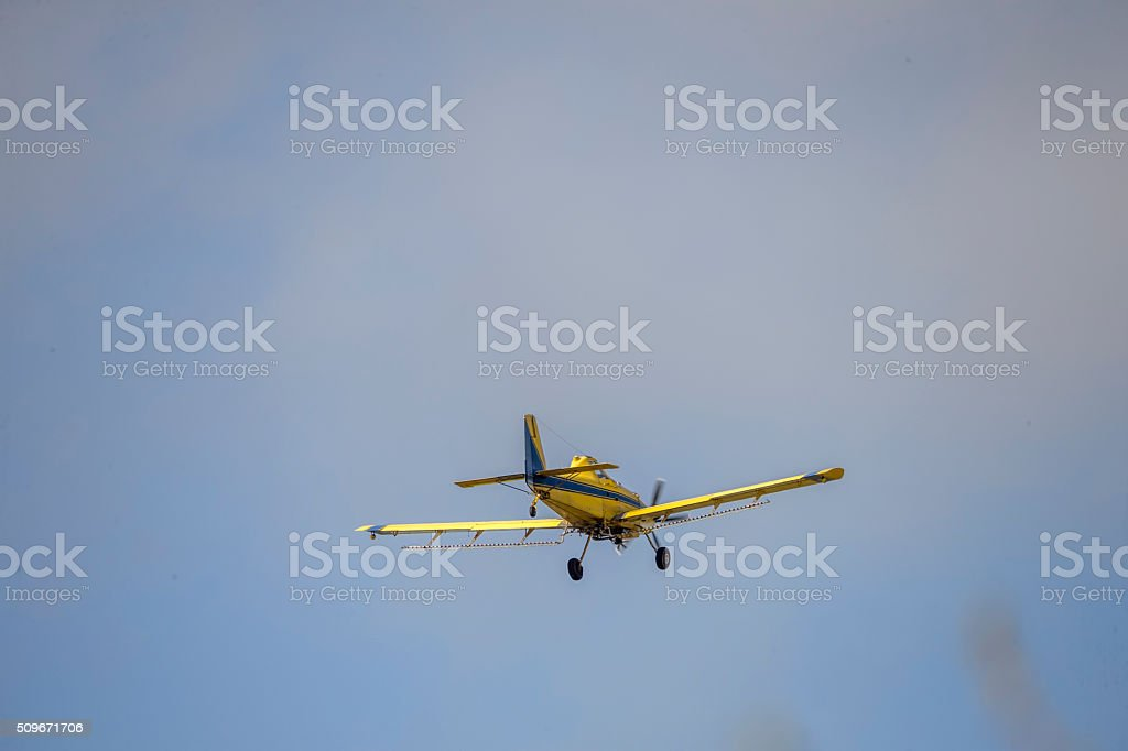 Private Airplane In Flight stock photo