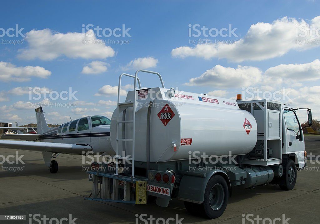 Private Airplane Refueling royalty-free stock photo
